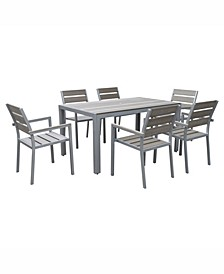 Gallant 7 Piece Sun Bleached Outdoor Dining Set