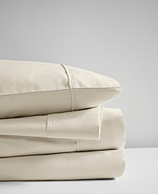 400 Thread Count Queen 4-Piece Wrinkle Resistant Cotton Sateen Sheet Set