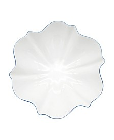 Amelie Royal Blue Rim Serving Bowl