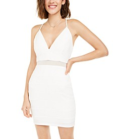 Juniors' Crystal Racerback Bodycon Dress