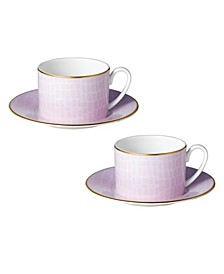 Layla Cups Saucers - Set of 2