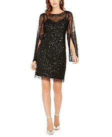 Embellished Sheath Dress