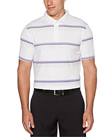 Men's Geometric-Stripe Golf Polo