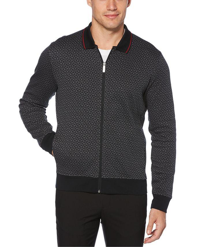 Perry Ellis - Men's Printed Jacquard Sweater