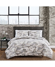 Garment Washed Camo King Duvet Set