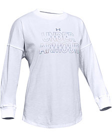 Under Armour Girls' Wordmark Branded Long Sleeve