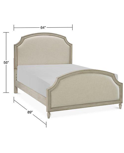 Emma Kids Bedroom Furniture, Queen Upholstered Panel Bed