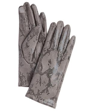 Women's Faux Suede Reptile Touchscreen Glove