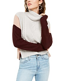 Juniors' Colorblocked Knit Sweater