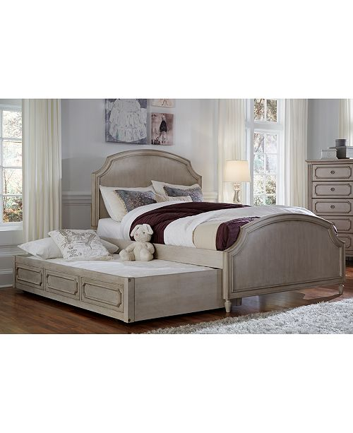 Furniture Emma Kids Bedroom Furniture, Full Upholstered Panel Bed with  Trundle