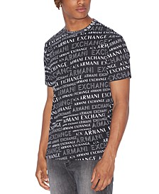 Men's Tonal All-Over Extreme Logo T-Shirt