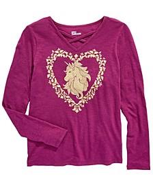 Big Girls Unicorn T-Shirt, Created For Macy's