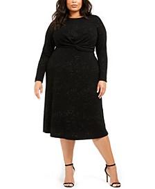 Plus Size Twist-Waist Dress, Created for Macy's