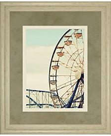 "Retro Ferris by Gail Peck Framed Print Wall Art - 34"" x 40"""