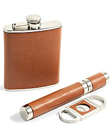 Bey-Berk 6 Ounce Flask, Cigar Tube and Cutter Gift Set