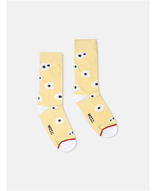 WeSC Kennedy Big Poppy Crew Socks, 2 Pack