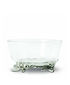 Dip, Candy, Fruit Glass Bowl with Blueberry Base