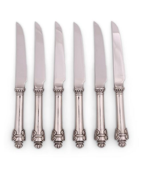 Vagabond House Pewter Medici Forged Steak Knife Boxed Set of 6