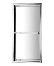 Polished Stainless Steel Vertical Double Shelf Bath Shower Niche