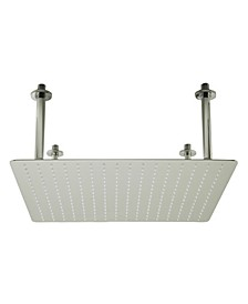 """20"""" Square Brushed Solid Stainless Steel Ultra Thin Rain Shower Head"""