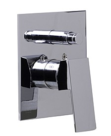 Polished Chrome Shower Valve Mixer with Square Lever Handle and Diverter