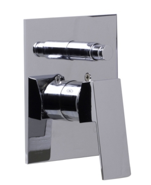 Alfi brand Polished Chrome Shower Valve Mixer with Square Lever Handle and Diverter Bedding