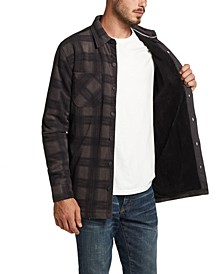 Men's Fleece-Lined Plaid Shirt-Jacket