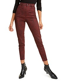 Juniors' Animal Print High-Rise Jeans