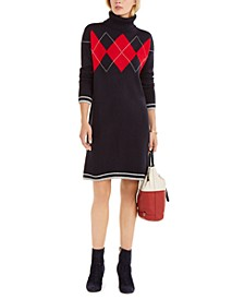 Argyle-Print Sweater Dress, Created For Macy's
