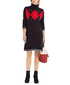 Argyle-Print Sweater Dress, Created For Macy's