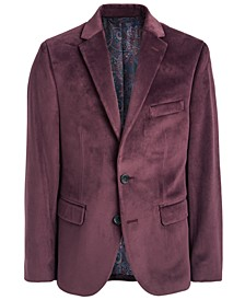 Big Boys Classic-Fit Burgundy Velvet Sport Coat