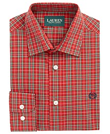 Big Boys Classic-Fit Red Plaid Shirt