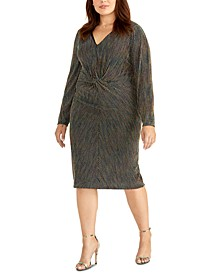 Plus Size Knotted Midi Dress