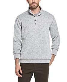 Men's Three-Button Fleece Pullover