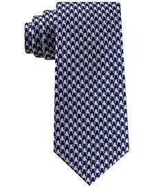 Men's Classic Etched Houndstooth Silk Tie