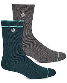 Women's 2-Pk. Brushed Fleece Crew Socks