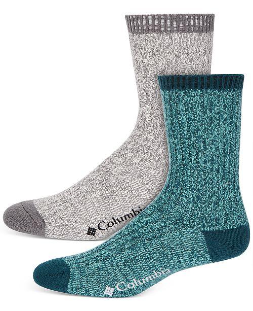 Columbia Women's 2-Pk. Super Soft Marled Rib Crew Socks