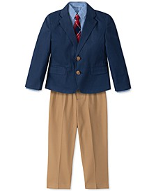 Little Boys 4-Pc. Twill Suit Set