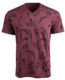 Men's Dry Botanical Graphic V-Neck T-Shirt, Created For Macy's