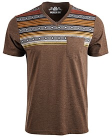 Men's Gradient Fair Isle Stripe V-Neck T-Shirt, Created For Macy's