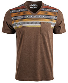 American Rag Men's Gradient Fair Isle Stripe V-Neck T-Shirt, Created For Macy's