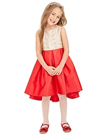 Little Girls Embellished High-Low Dress