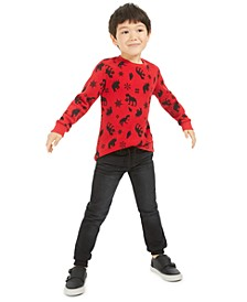 Toddler Boys Dinosaur-Print Thermal T-Shirt & Knit Denim Jogger Pants, Created For Macy's