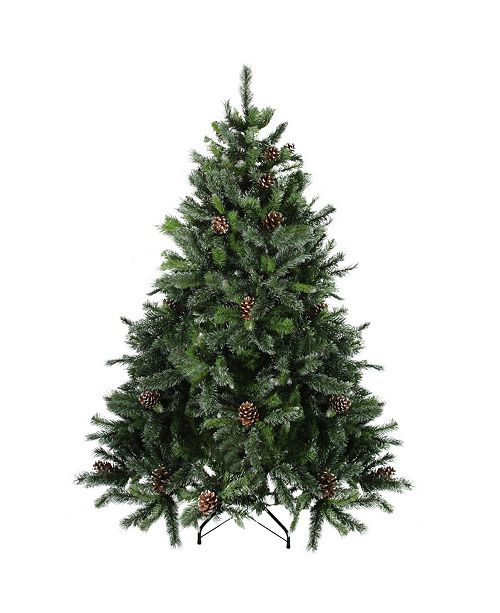 Northlight 6.5' Snowy Delta Pine with Pine Cones Artificial Christmas Tree - Unlit