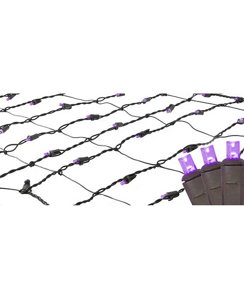 Northlight 2' x 8' Purple LED Tree Trunk Wrap Christmas Net Lights - Brown Wire