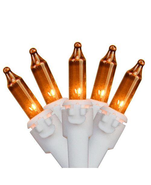 "Northlight Set of 35 Orange Mini Christmas Lights 2.5"" Spacing - White Wire"