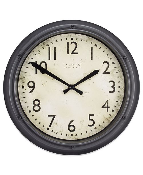 "La Crosse Technology La Crosse Clock 404-2630 12"" Hudson Analog Quartz Clock"