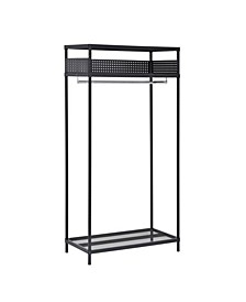 3-Shelf Steel Garment Rack