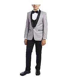 Big Boy's 5-Piece Slim Fit Shawl Tuxedo Set