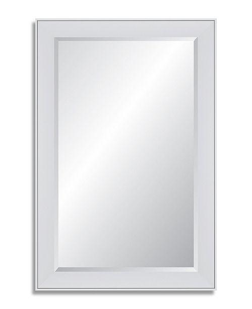 Reveal Frame & Decor Reveal Polar White Beveled Wall Mirror